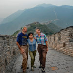 With no one around, we couldn't resist taking some souvenir shots. Hey, look at us on the Great Wall of China!