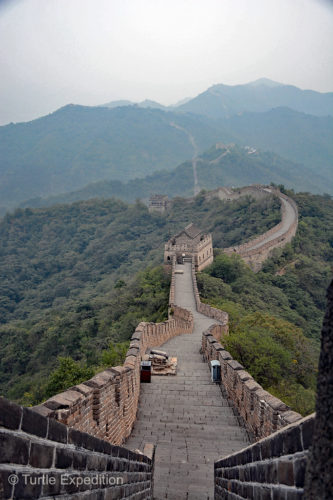 The Great Wall at Mutianyu stretched as far as the eye could see.