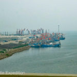 Finally, we could see the Bay of Bo Hai beyond Tianjin, one of the ports near Beijing on the Pacific.