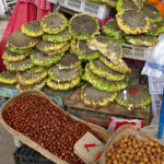 Sunflower seeds, hazelnuts and walnuts were popular items.