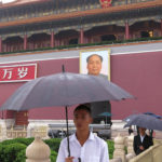The large portrait of Mao is a must photo background opportunity for Chinese selfies.