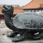 This mean looking turtle was one of many used guards against fire and evil spirits.