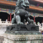 There were several of these intricately sculptured lions in the City. Since the introduction of the lion symbolism from Indian culture, especially through Buddhist symbolism, statues of guardian lions have traditionally stood in front of Chinese Imperial palaces.