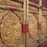 We were impressed by the excess of beautiful carvings, paintings and gold surrounding thrones that were used by the ruling emperors and their princesses. Each detail had a symbolic meaning.