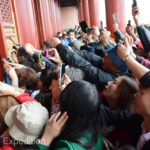Tourists pushed to get a photo of the throne in the Hall of Central Harmony. Even Monika joined the crowd with the advantage of being a little taller.