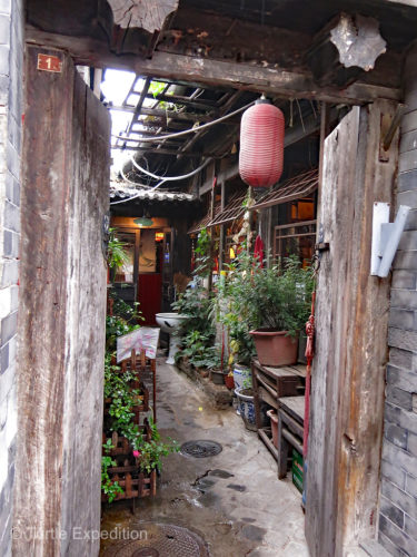 Doors opened up into little courtyards and kitchens. These old homes are where real people work and live.