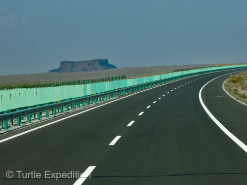 Our last super highway in China was rather monotonous.