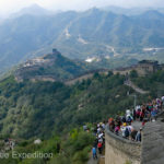We were definitely not alone on this visit to the Great Wall of China.