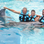 We learned a lot about the dolphins and posed for a lot for photos! A group picture with our friend Eduardo Payan.