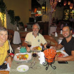 We are celebrating Monika's birthday dinner at Puerto Vallarta's Mi Pueblito's Restaurant right on the beach.