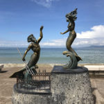 Another intriguing bronze sculpture along the Malecón.