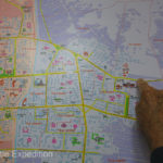 We did have a tourist city map, but of course, it was not in English. No GPS chip.