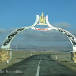 A pretty arch welcomed us to Bayanhongor.