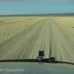 """The washboard was 3 to 4 inches deep. Normally we could stay on top of such corrugation at 35 mph, but there were enough """"gotcha holes"""" that any sustained speed over 20 mph was difficult."""