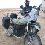 Olec was a Moscovite overland adventurer coming from Kazakhstan. His well-prepared bike showed his experience.