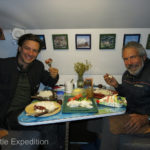 """It was evening so we invited Olec for a """"home cooked"""" dinner."""