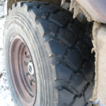 Our Michelin XZL tires still had plenty of grip for the snow and mud ahead.