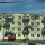 These old Russian apartments were a sign of the Soviet influence on Mongolia.