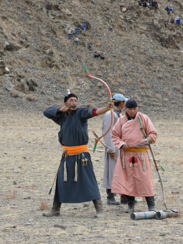 There were several archery contests.