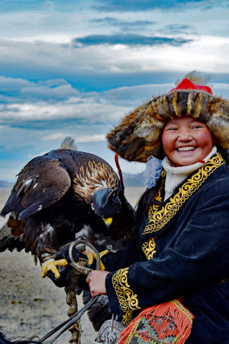 The big sensation was 13 year old Ashol-Pan, the first female to become an eagle hunter, or is it huntress?