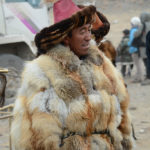 Some of the men wore beautiful fox, rabbit or wolf skin coats, a testimony to their and their eagle's skill in hunting.