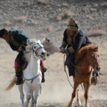 The horses played a critical role in the battle and the skill of the riders was amazing as they kept their grip on the carcass and used the power of their stocky Mongolian horses to the best advantage.