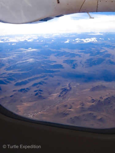 The flight from Olgii to Ulanbaatar gave us an overall view of the landscape we had just driven through.
