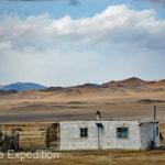 At last, we reach our destination, a typical Kazakh winter home.