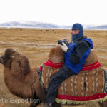 After ten minutes, Gary had to get off the camel. With no saddle, his voice was starting to change!
