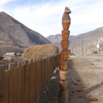 "We do not know what this Altai ""totem pole"" represents. Maybe it's just a hitching post."