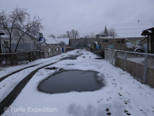 Arriving in Rubtsovsk, there was no doubt that winter had arrived. Almost always below freezing.