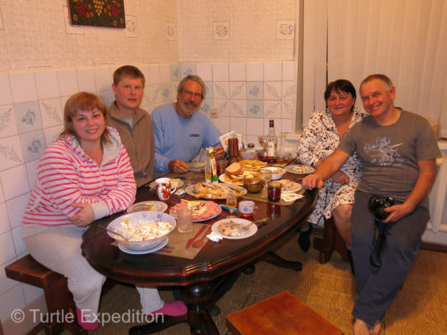 We spent some wonderful evenings with our old friends. Thanks to Vitali who is fluent in English, the conversations flowed easily. We had much to catch up. Left to right, Svetlana, Vitaly, yours truly, Nina and Losha.