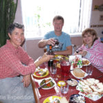 Vitaly and Svetlana invited us to a wonderful lunch.