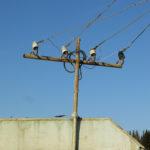 Siberian style power pole