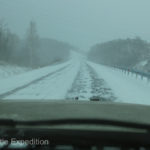 The 12-day marathon drive through several winter storms was quite challenging at times.