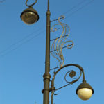 These beautiful streetlights gave a touch of class to the old city.