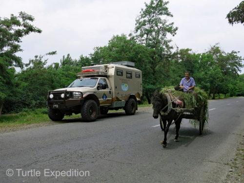 Traffic was light in Azerbaijan.
