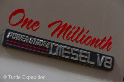 The One Millionth Power Stroke 7.3 liter Intercooled Turbo Diesel, puts this truck in a class by itself.