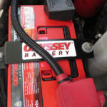 The starting batteries were upgraded to larger Odyssey Extreme group 34s. The factory 160-amp alternator charges the two starting batteries. The Turtle V came from the factory with the dual-alternator ambulance package.