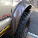 The bigger tires needed fender flares to allow room for suspension travel and mud and snow chains.