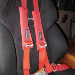 Four-point Mastercraft Safety Harnesses hold us securely and comfortably in place