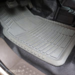 Kraco floor mats catch mud, gravel and snow and they are super easy to clean.