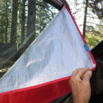 Velcro tabs secure the covers to door frames and windshield.