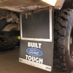 Our PlastiColor mud flaps are extremely important for keeping all kinds of slop off the sides and back of the truck. We reinforced them to limit flapping.