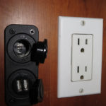 Throughout the camper there are 110-V plugs, 12-V plugs and USB plugs.