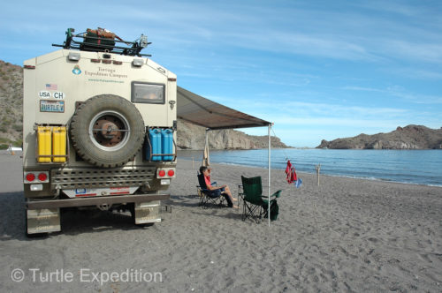 Our weeklong camp on the Sea of Cortez was idyllic. No we're not telling exactly where it was.
