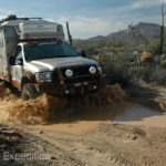 Thunderstorms can turn desert backroads into messy mud bogs.