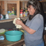 Teresita, sister of one of the fishermen, insisted on giving Monika a lesson on hand-making fresh tortillas.