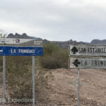 There were actually signs to La Trinidad, but we had been looking for a different ranch near there.
