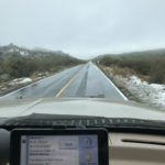 We even had some snow going over this pass toward Ensenada.